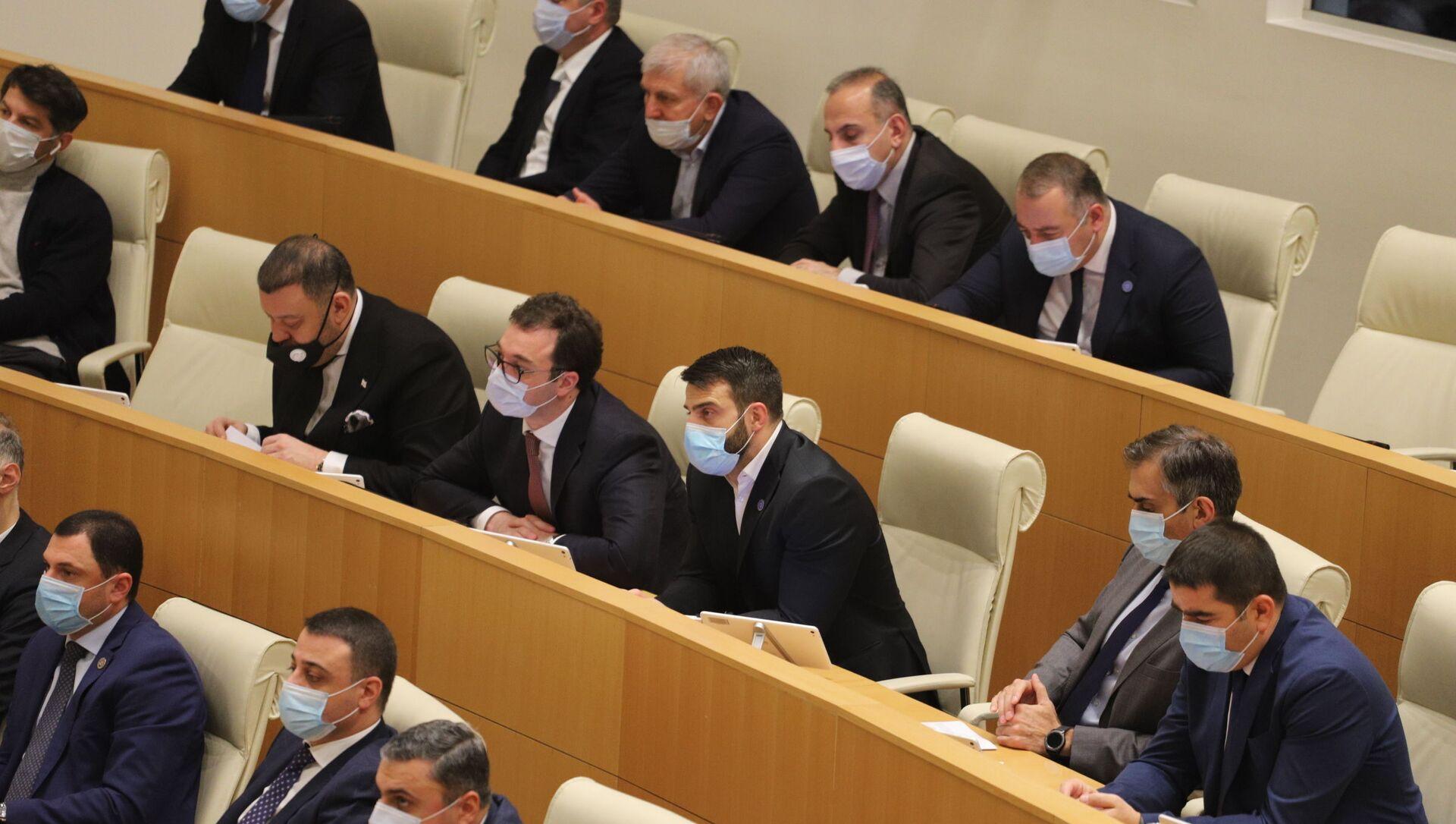 Депутаты. Заседание парламента Грузии 24 декабря 2020 год - Sputnik Грузия, 1920, 08.04.2021