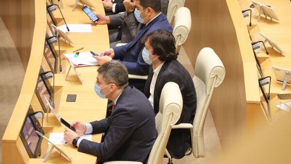 Депутаты. Заседание парламента Грузии 24 декабря 2020 год - Sputnik Грузия