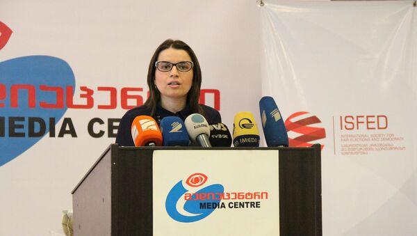 Исполнительный директор НПО Международное общество за справедливые выборы и демократию (ISFED) Элене Нижарадзе - Sputnik Грузия