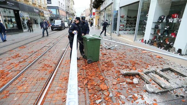 Землетрясение в Хорватии, Загреб - Sputnik Грузия