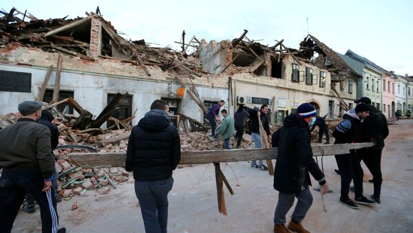 Последствия разрушительного землетрясения в Хорвватии - Sputnik Грузия