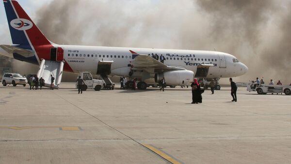 Последствия взрыва в Аэропорту Йемен - Sputnik Грузия