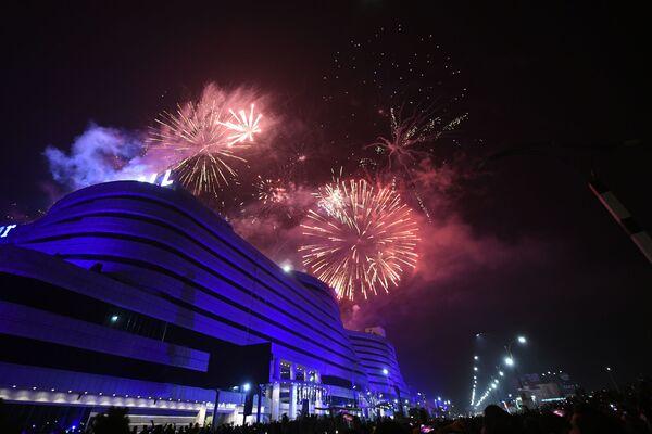 Салют во время празднования Нового 2021 года в Пакистане  - Sputnik Грузия