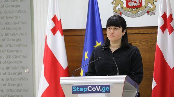 Заместитель министра здравоохранения Тамар Габуния   - Sputnik Грузия
