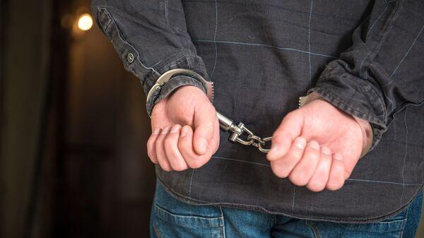 Задержание преступника - наручники одевают на руки - Sputnik Грузия