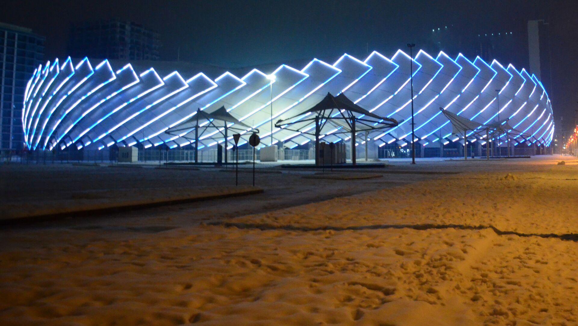 Батуми в снегу зимой - новый олимпийский Батумский стадион - Sputnik Грузия, 1920, 10.02.2021