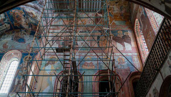 Гелатский монастырь Богородицы - реконструкция и уникальные фрески - Sputnik Грузия