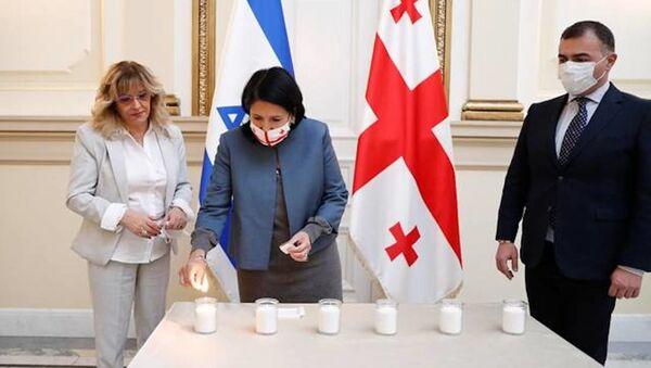Вечер памяти жертв Холокоста в президентском дворце - Sputnik Грузия