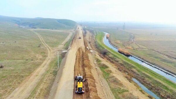 გზის მშენებლობა აზერბაიჯანში - Sputnik საქართველო