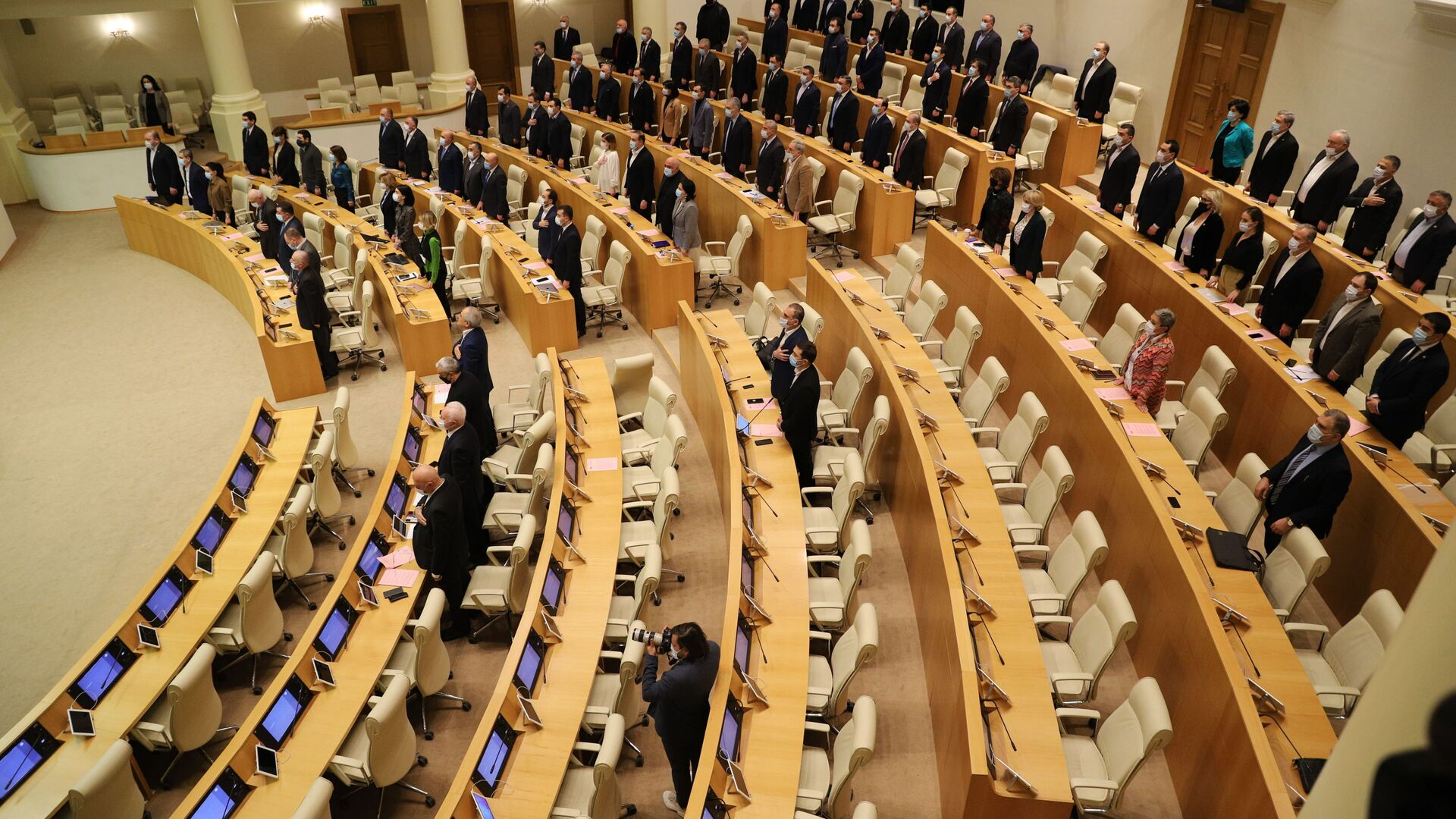 Парламент Грузии - начало заседания - Sputnik Грузия, 1920, 02.02.2021
