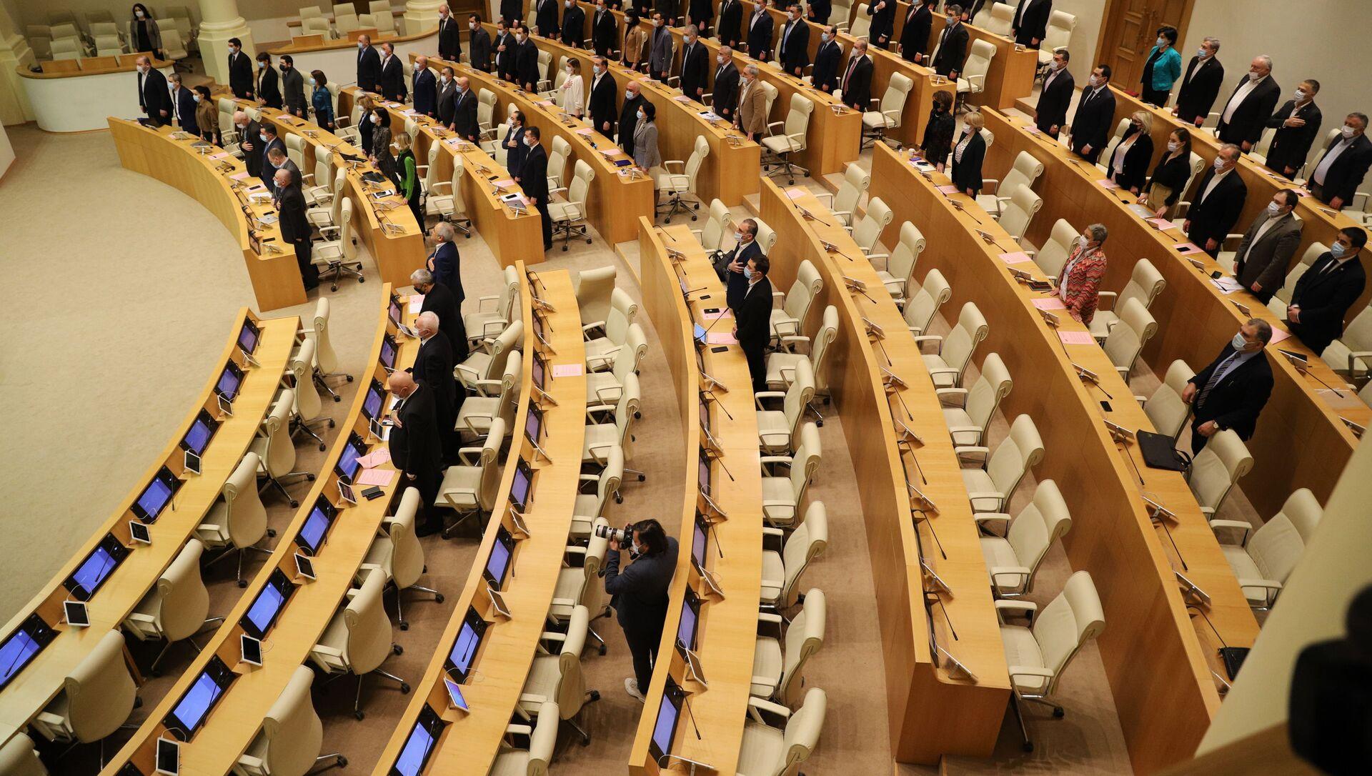 Парламент Грузии - начало заседания - Sputnik Грузия, 1920, 22.07.2021