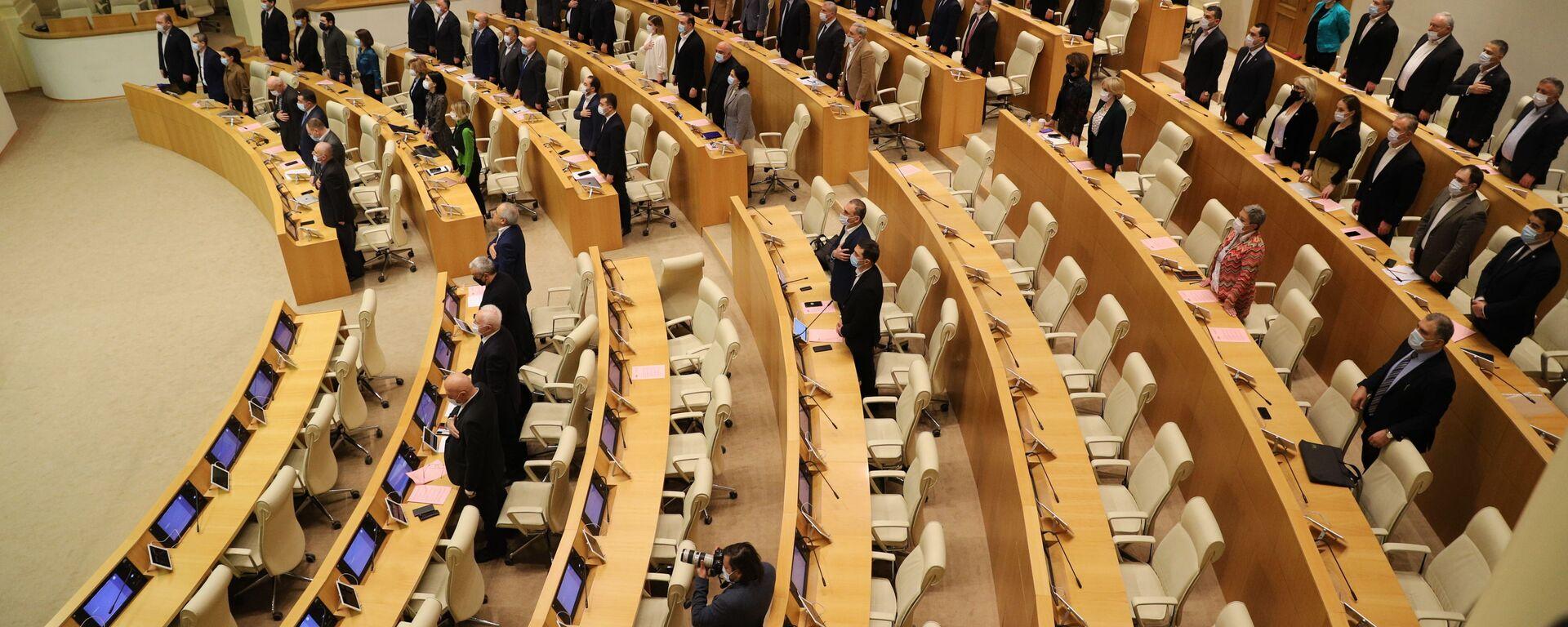 Парламент Грузии - начало заседания - Sputnik Грузия, 1920, 25.05.2021
