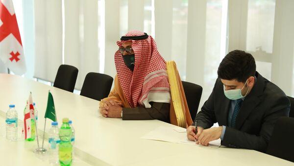Встреча в Национальной администрации туризма с послом Саудовской Аравии - Sputnik Грузия
