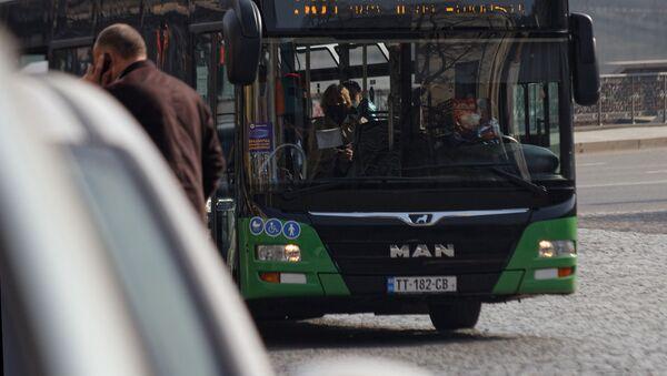 Пассажирские автобусы MAN в столице - Sputnik Грузия