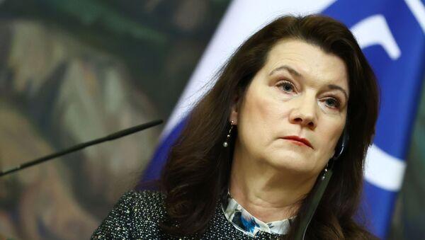 Министр иностранных дел Швеции Анн Линде - Sputnik Грузия