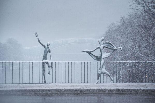 Особое очарование зимнего города - необычные городские пейзажи - Sputnik Грузия