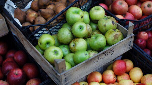 Грузинские яблоки в ящиках - уличная торговля  - Sputnik Грузия