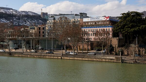 Вид на город Тбилиси - набережная и офис партии Грузинская мечта - Sputnik Грузия