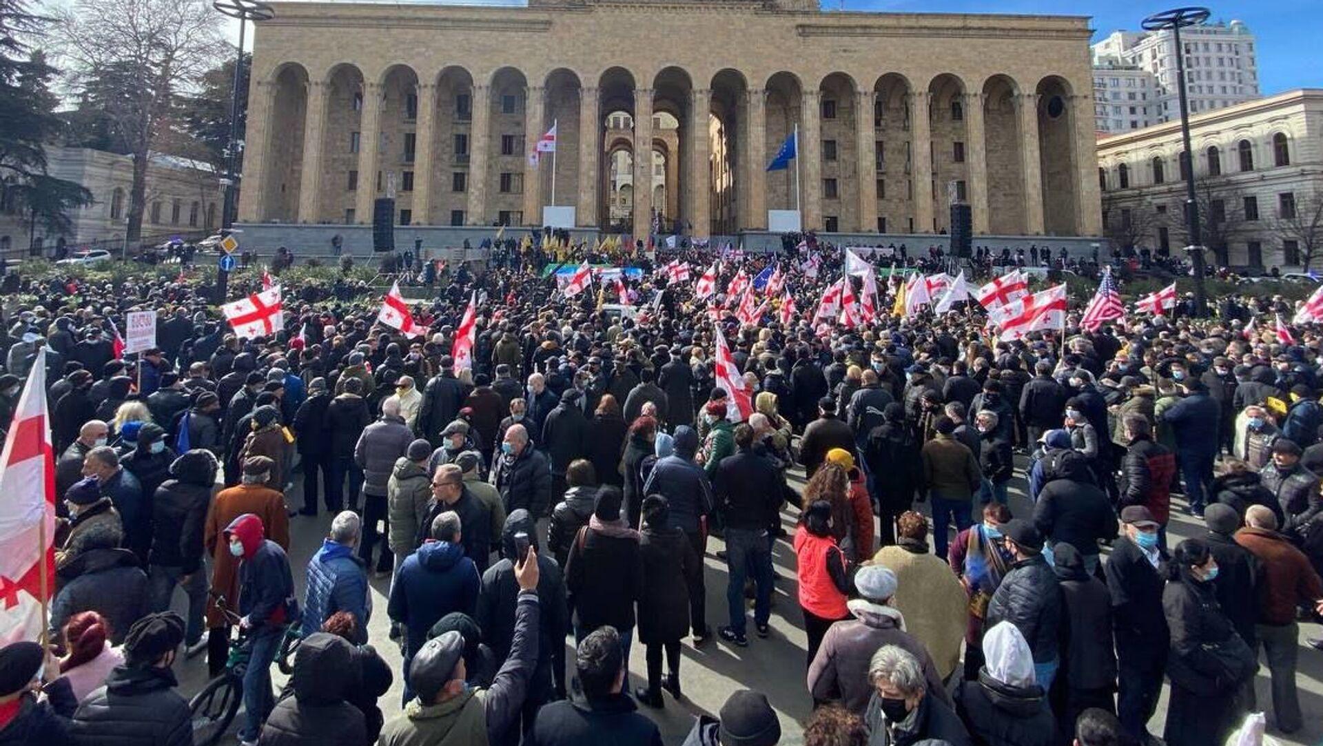 Акция протеста объединенной оппозиции 26 февраля 2021 года - Sputnik Грузия, 1920, 27.02.2021