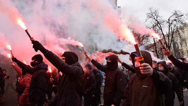 Акция националистов в Киеве - Sputnik Грузия