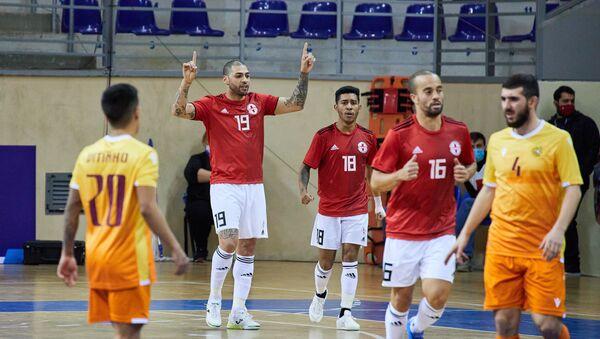 Матч между сборными Грузии и Армении по футзалу в рамках отбора к Евро-2022 - Sputnik Грузия