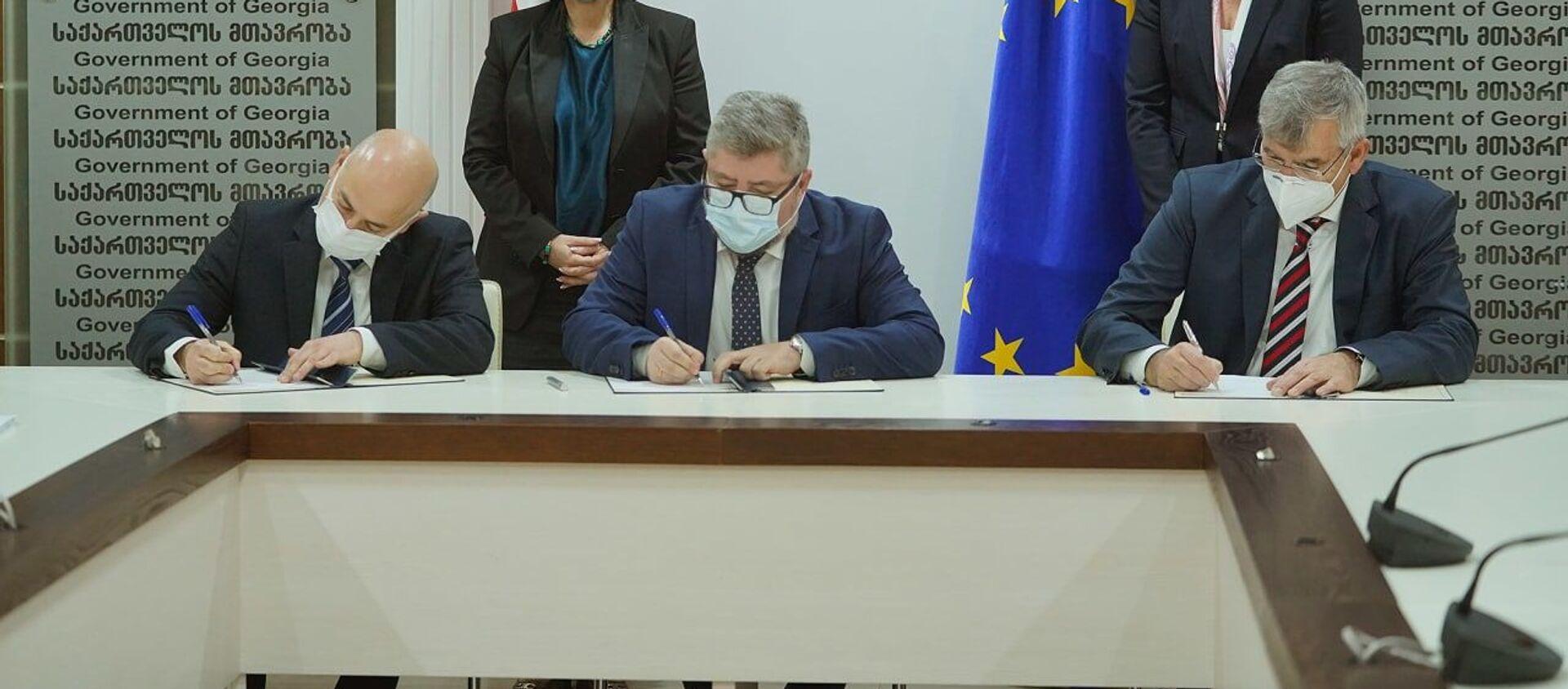 Грузия и OMV подписали контракт по разведке нефти на шельфе Черного моря  - Sputnik Грузия, 1920, 10.03.2021