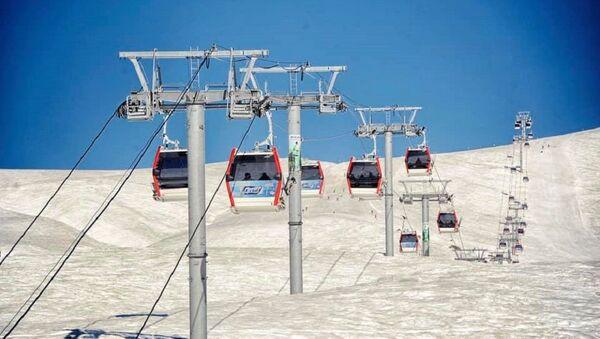 Канатная дорога на лыжном курорте Гудаури - Sputnik Грузия