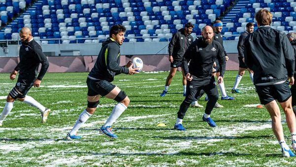 Тренировка сборной Грузии по регби перед игрой с Россией - Sputnik Грузия