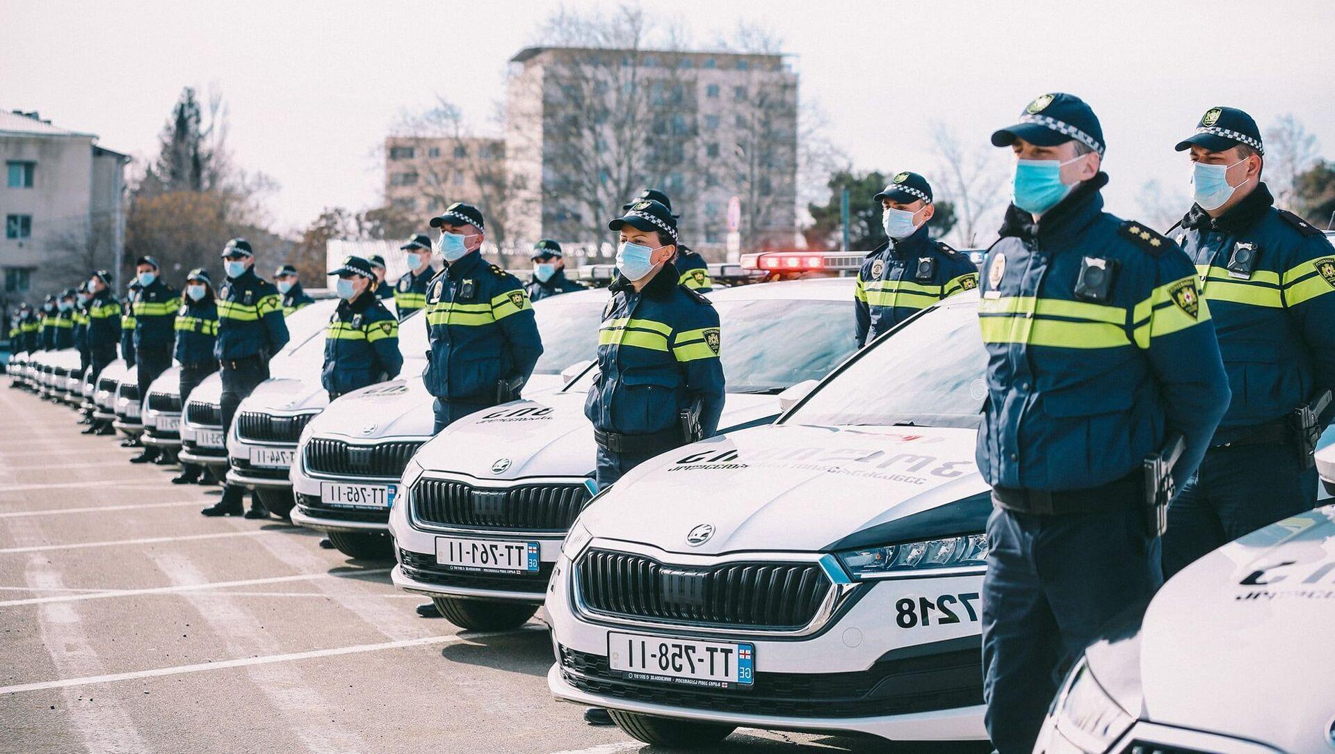Автопарк полиции Грузии пополнился 225 новыми машинами - Sputnik Грузия, 1920, 20.03.2021