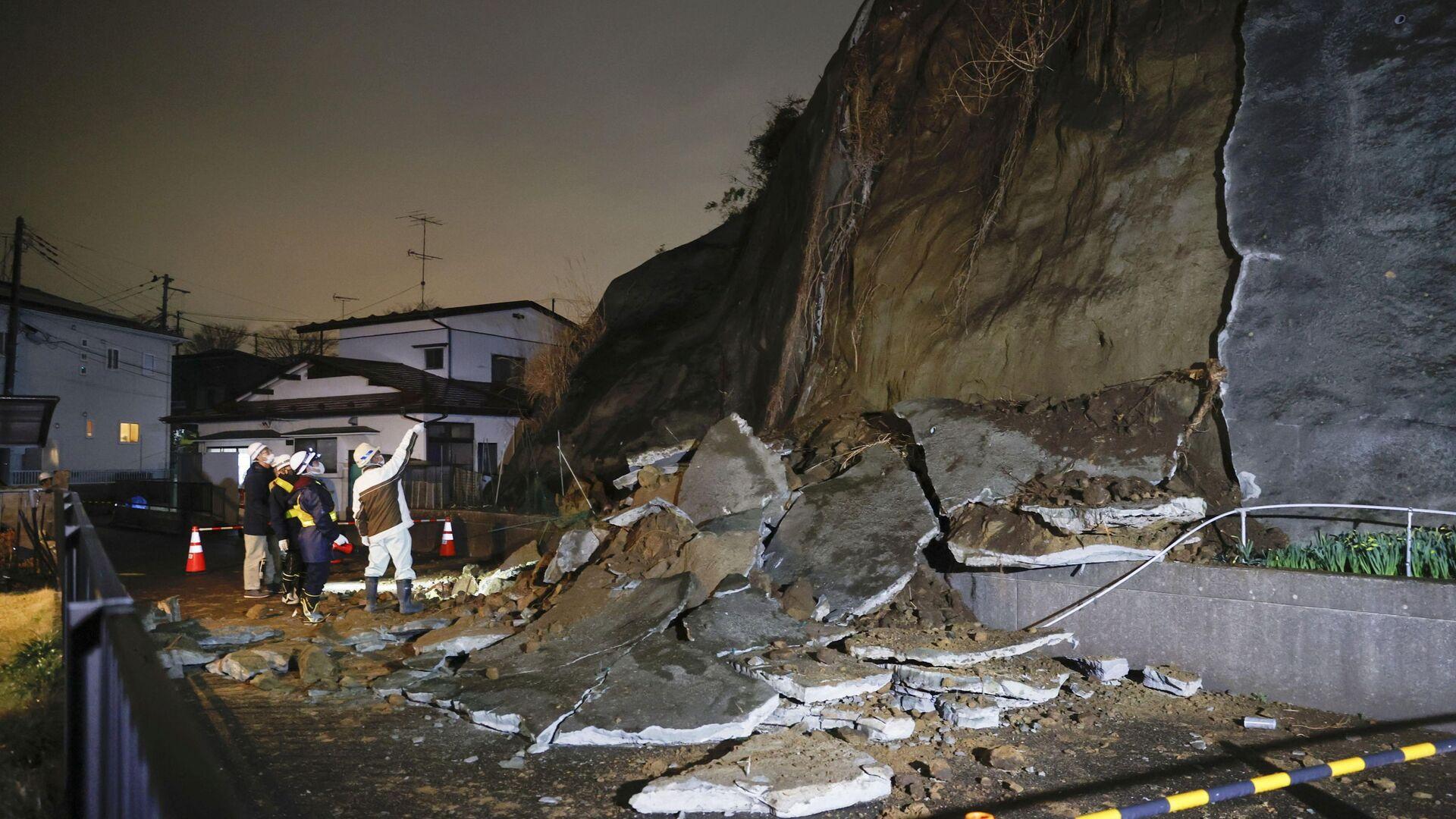 Землетрясение в Японии 20 марта 2021 года - Sputnik Грузия, 1920, 08.10.2021