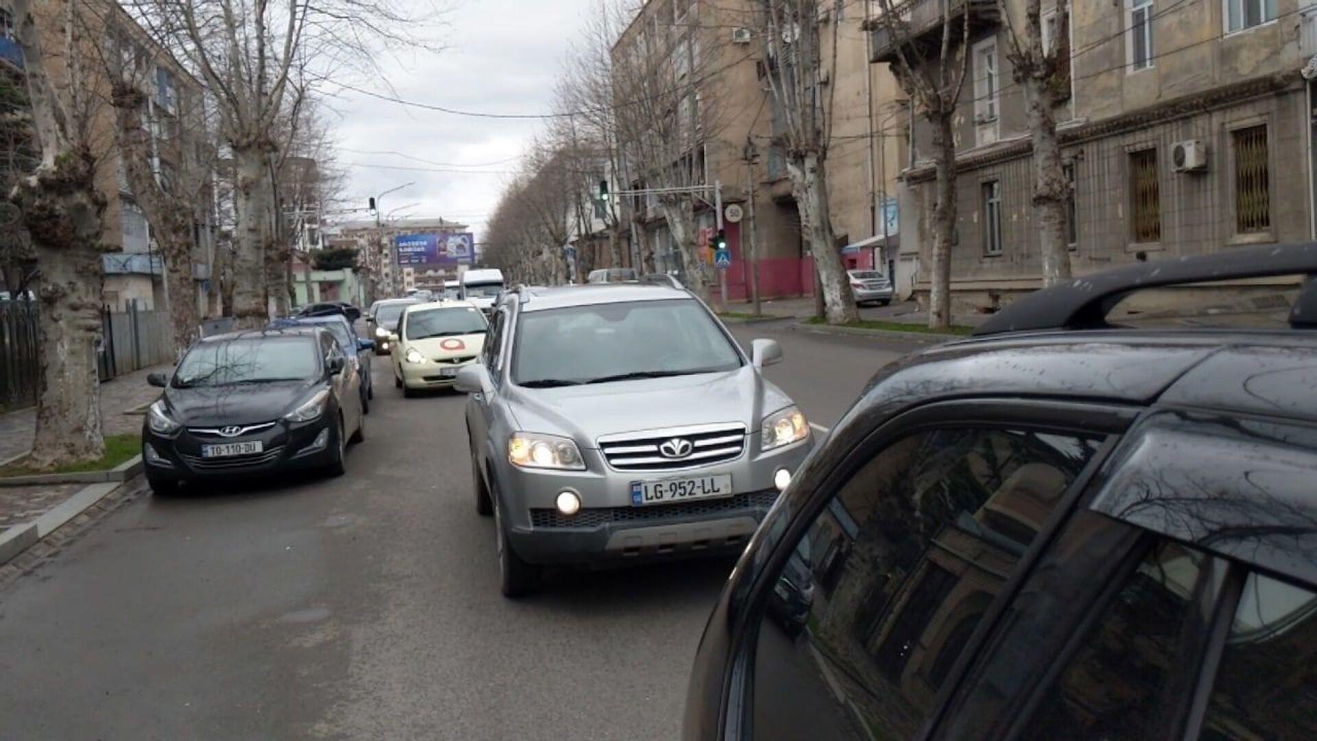 Автомобилисты Грузии протестуют против повышения цен на топливо - Sputnik Грузия, 1920, 21.03.2021