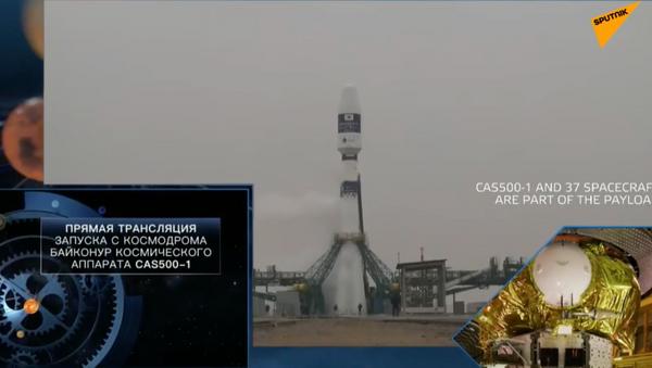 Запуск космических аппаратов с космодрома Байконур - видео - Sputnik Грузия