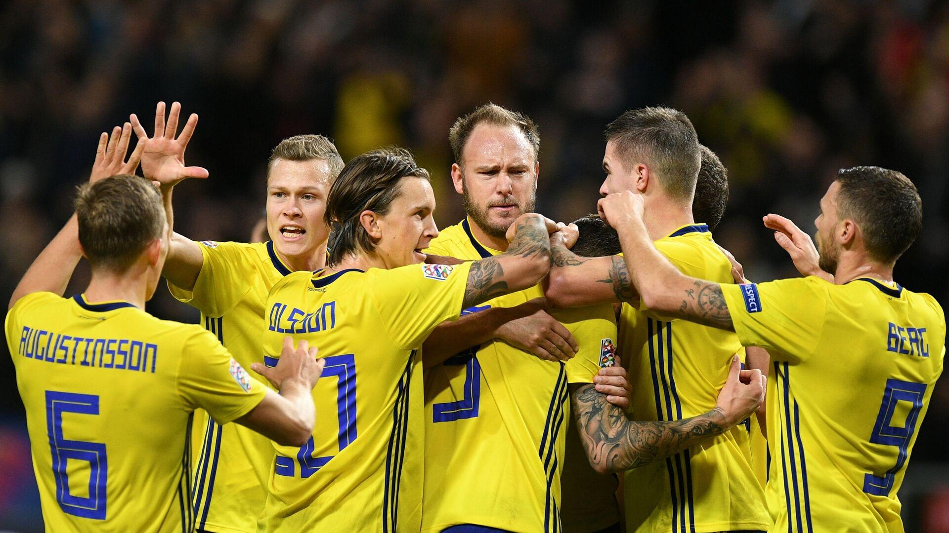 Игроки сборной Швеции - Sputnik Грузия, 1920, 08.09.2021
