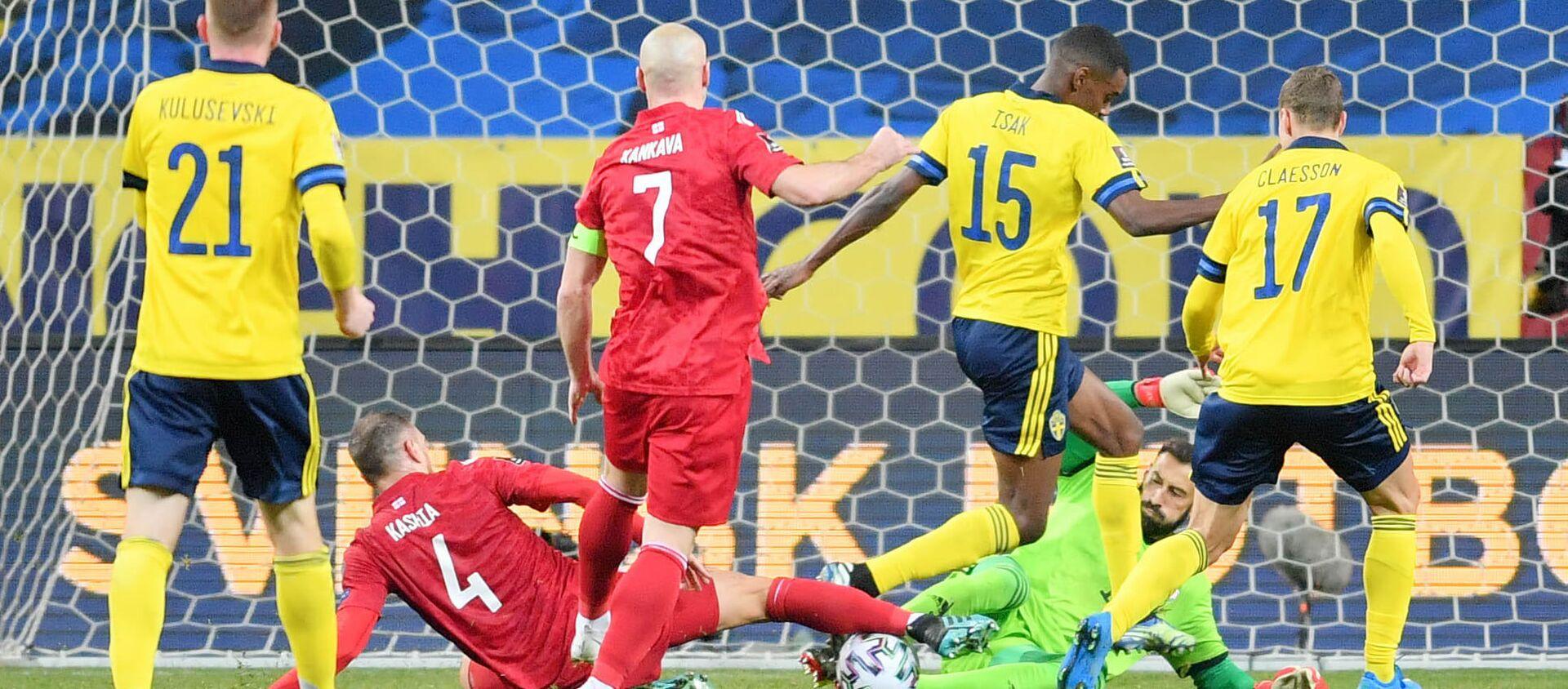 Сборная Грузии и Швеции в первом отборочном матче ЧМ-2022 - Sputnik Грузия, 1920, 01.04.2021
