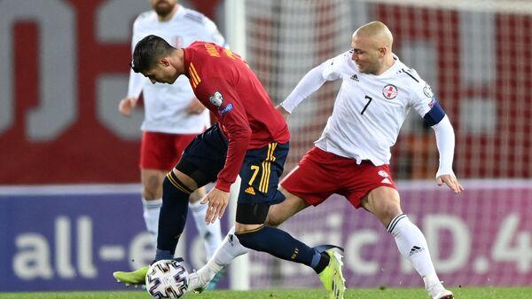 Отборочный матч ЧМ-2022 по футболу между сборными Грузии и Испании на Динамо Арене   - Sputnik Грузия