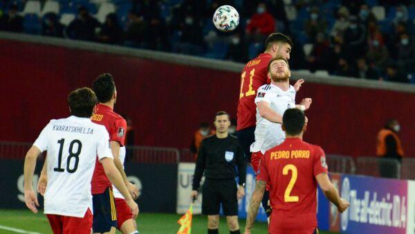Отборочный матч ЧМ-2022 по футболу между сборными Грузии и Испании на Динамо Арене. Второй тайм, счет 1:1  - Sputnik Грузия