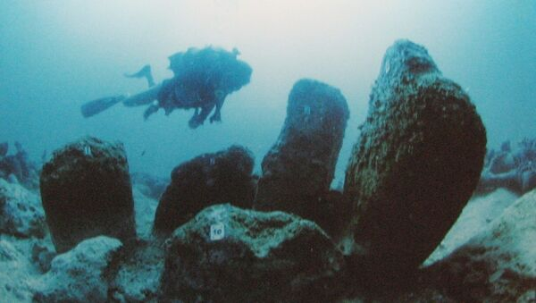 Атлит-Ям - древняя затопленная неолитическая деревня у побережья Атлита, Израиль - Sputnik Грузия