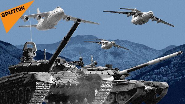 Российские военные учения: кадры маневров на земле и в воздухе - видео - Sputnik Грузия