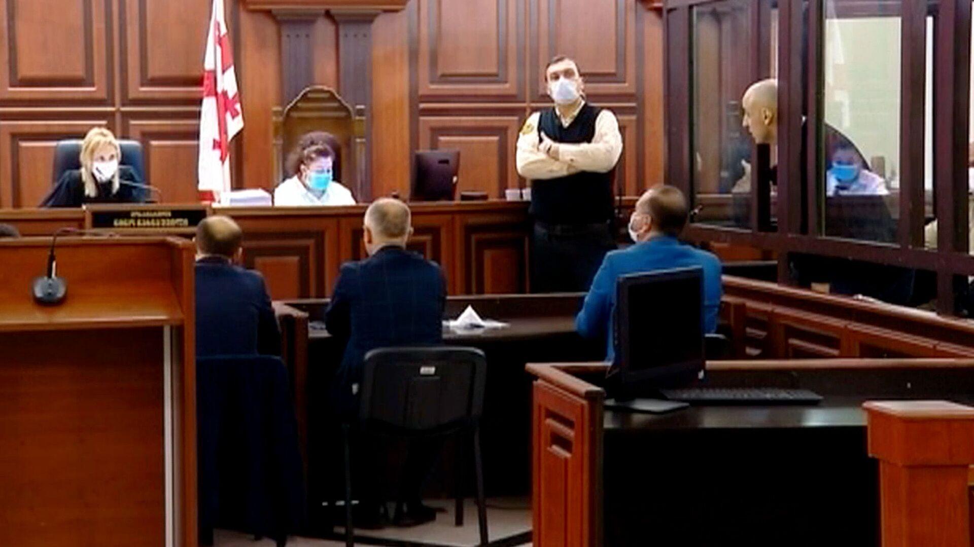 Ника Мелия на судебном процессе в Тбилисском городском суде 13 апреля 2021 года - Sputnik Грузия, 1920, 09.09.2021
