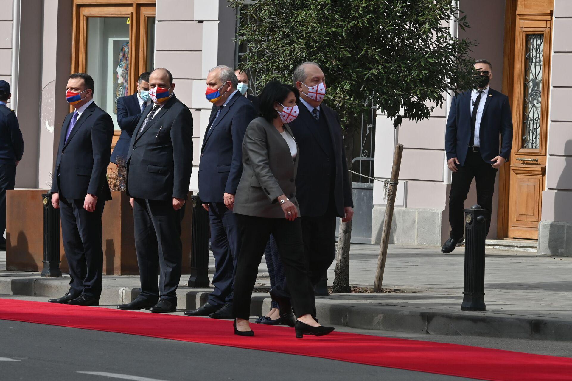 Мир и сотрудничество: о чем говорили президенты Грузии и Армении - Sputnik Грузия, 1920, 15.04.2021