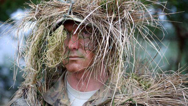 ჯარისკაცი სამხედრო სწავლებაზე - Sputnik საქართველო