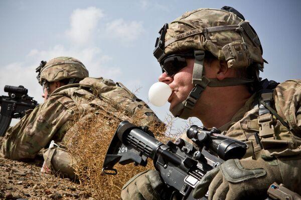 Оборона командного поста американских войск в провинции Кандагар, 3 февраля 2013 года - Sputnik Грузия