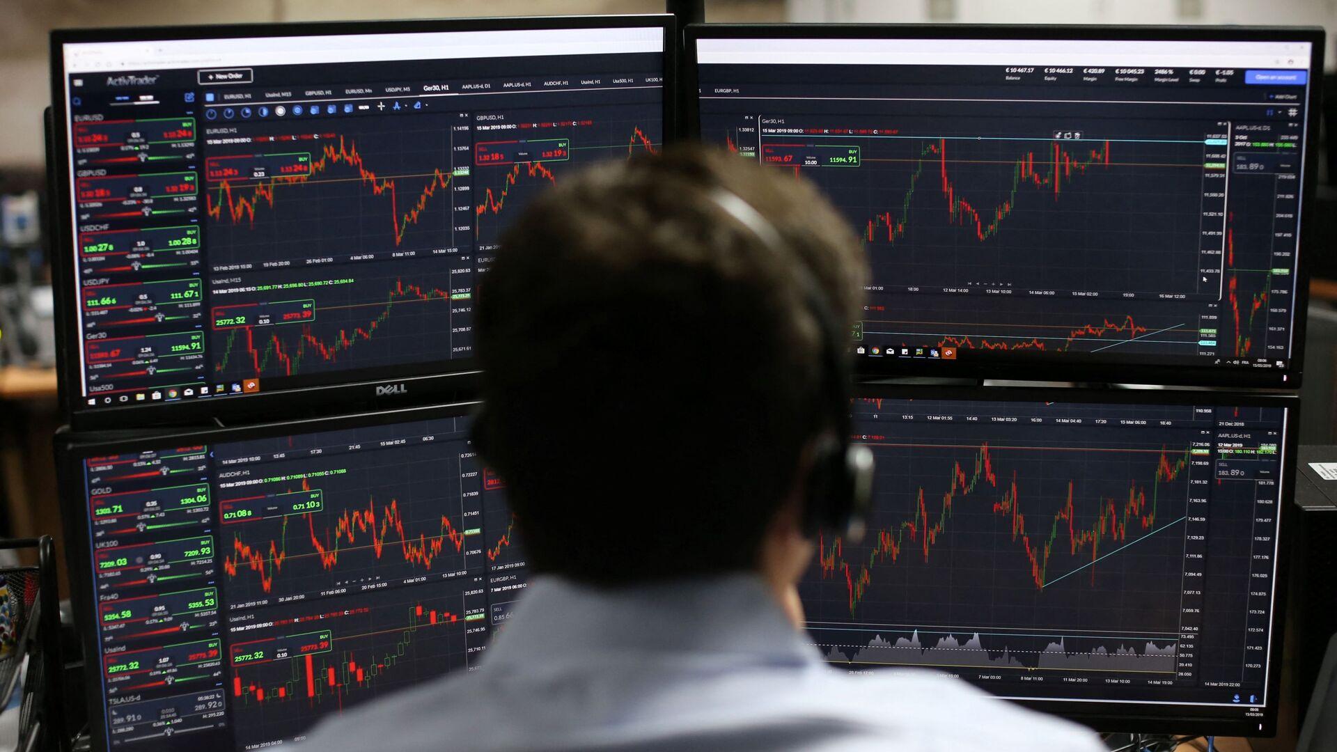 Лондонская фондовая биржа. Акции, котировки, трейдеры - Sputnik Грузия, 1920, 28.09.2021