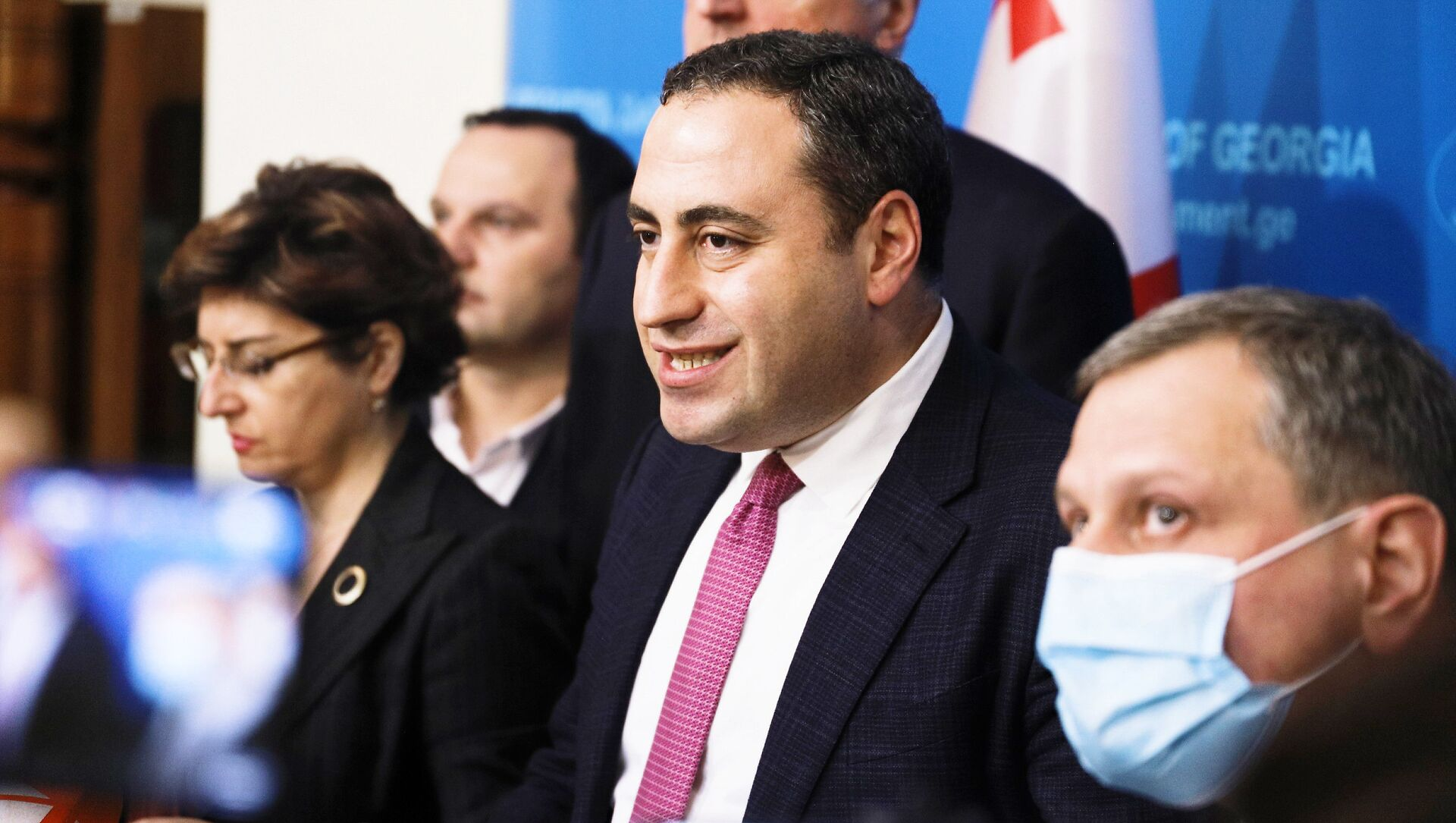 Георгий Вашадзе и лидеры объединенной оппозиции - Sputnik Грузия, 1920, 03.06.2021