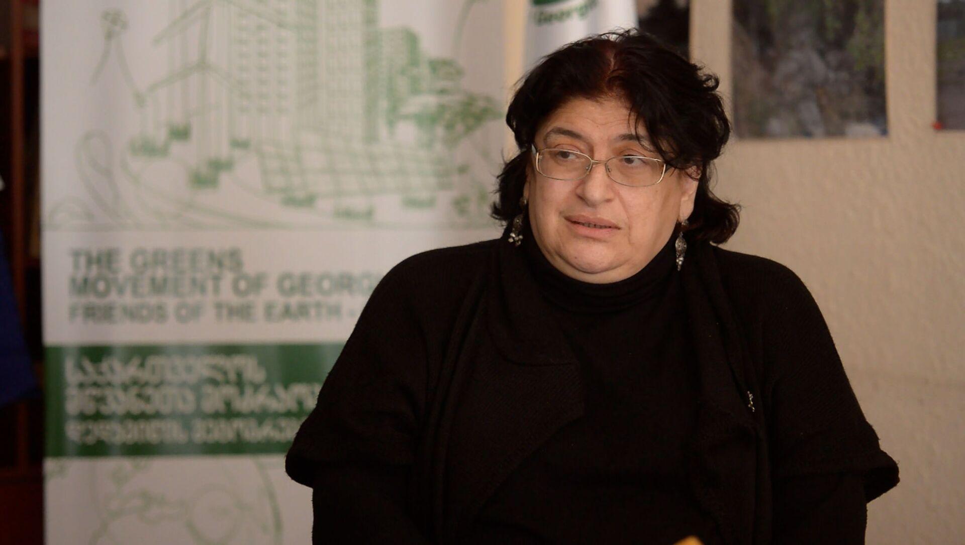 Нино Чхобадзе - экс-министр по охране окружающей среды - Sputnik Грузия, 1920, 12.05.2021
