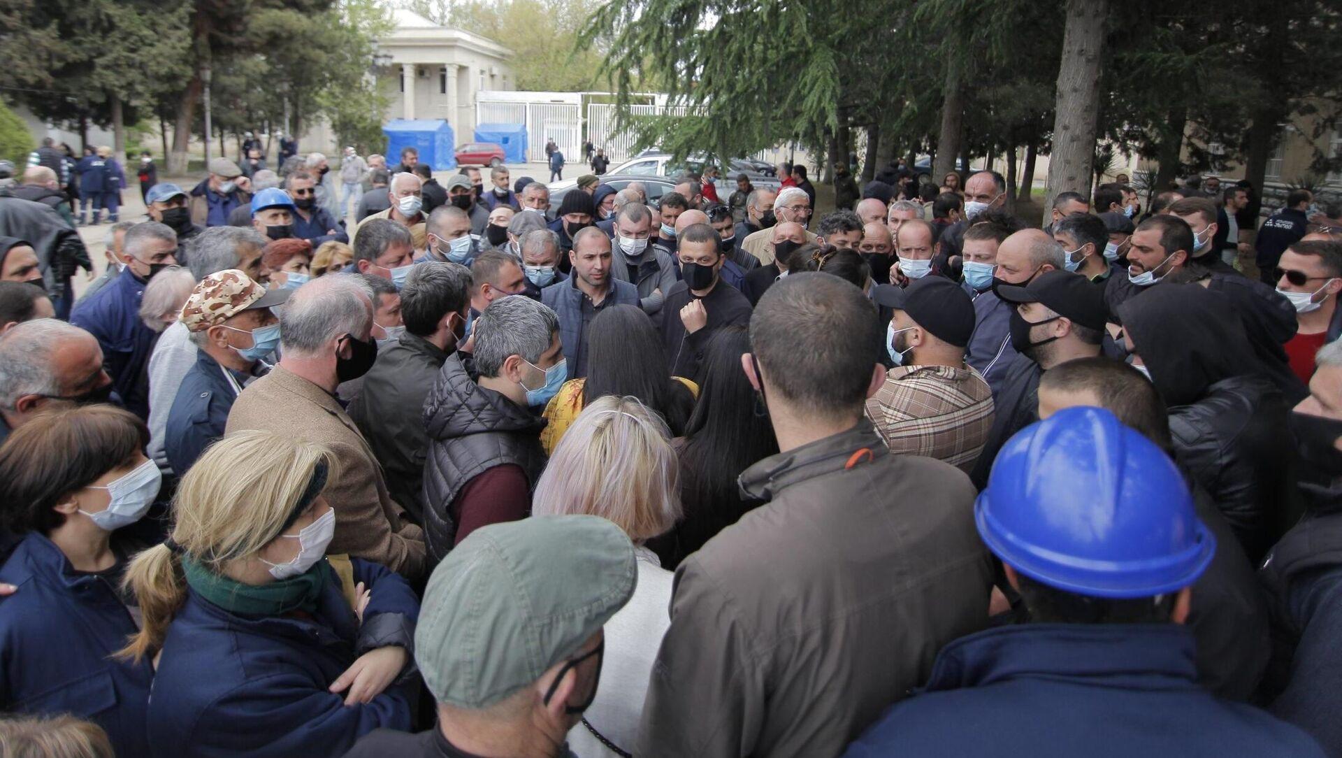 Акция протеста у здания Рустави Азот - Sputnik Грузия, 1920, 28.04.2021