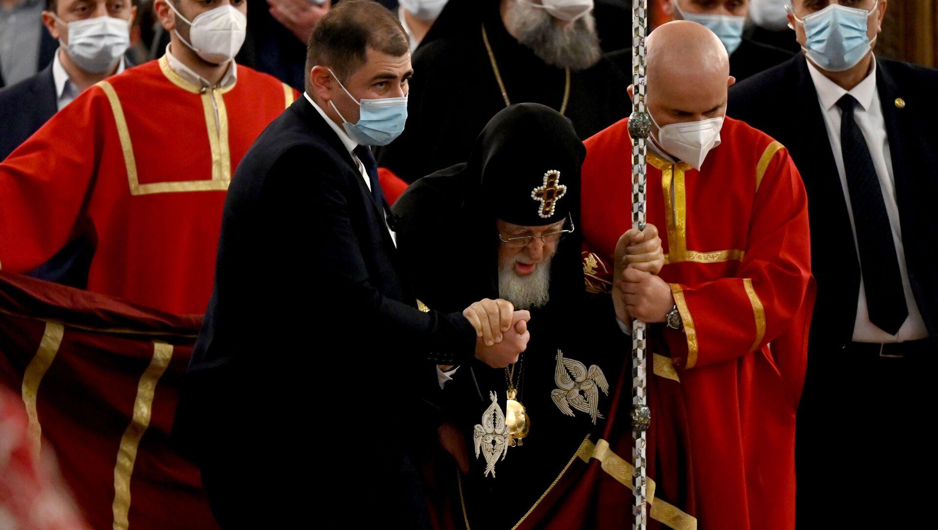 Католикос-Патриарх Всея Грузии Илия Второй. Празднование Пасхи 1 мая 2021 года - Sputnik Грузия, 1920, 02.05.2021