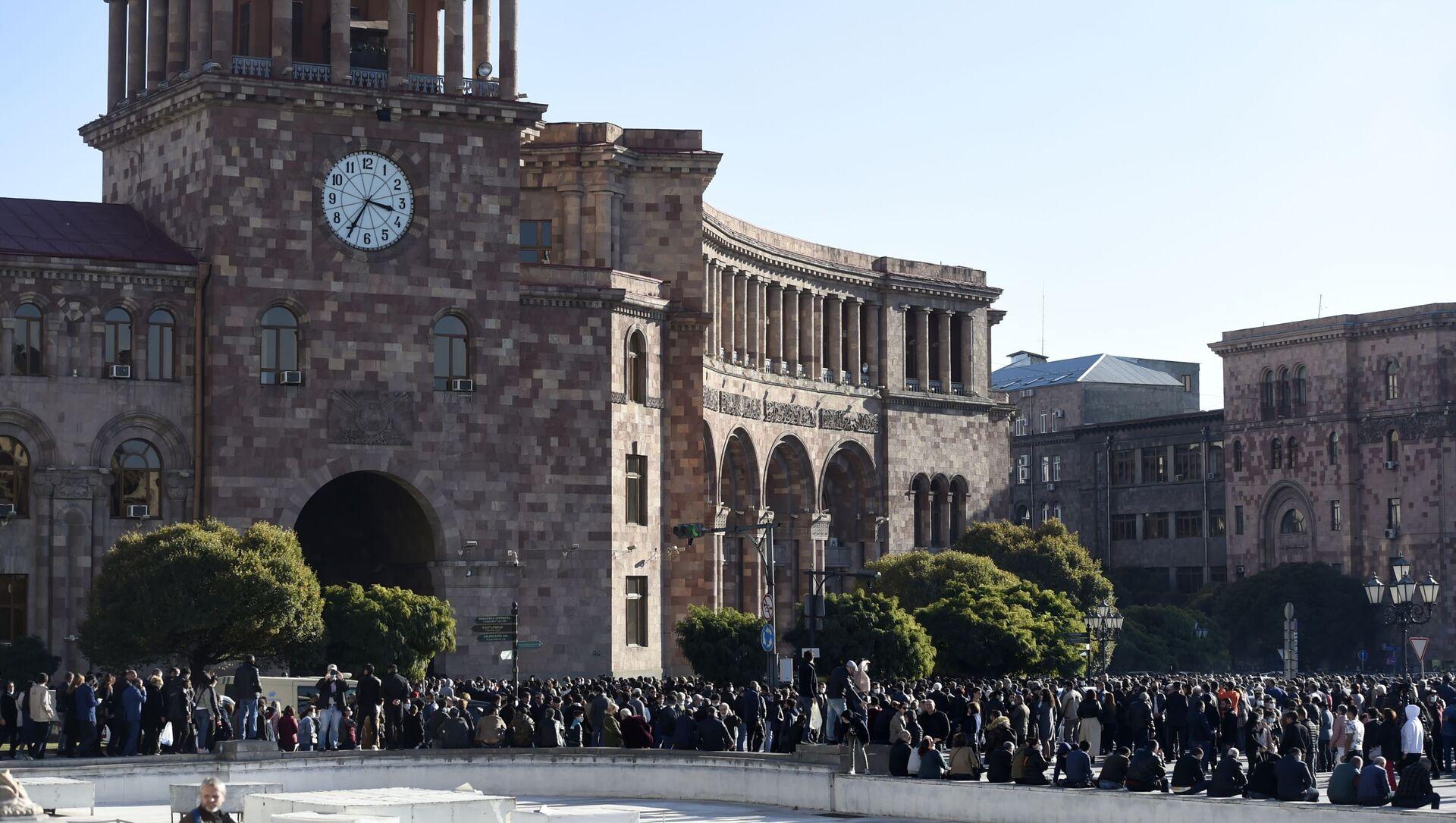 Ереван, Армения. Митинг оппозиции, архивное фото - Sputnik Грузия, 1920, 10.05.2021