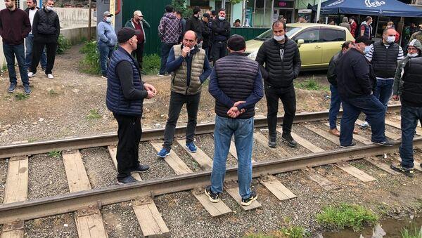 Забастовка работников завода Боржоми 19 мая 2021 года - Sputnik Грузия