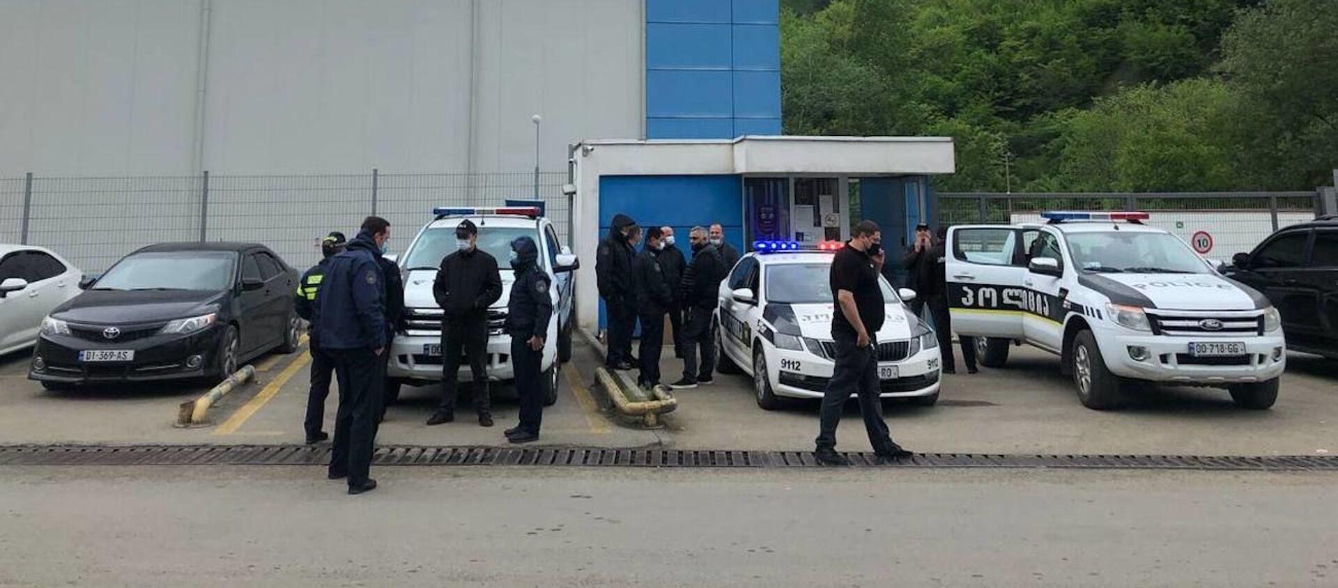 Забастовка работников завода Боржоми 19 мая 2021 года - Sputnik Грузия, 1920, 19.05.2021